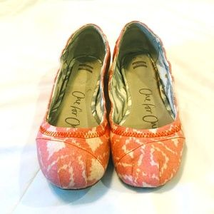GUC Toms Orange Ballet Flats Size 7